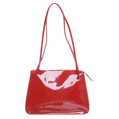 Furla Patent leather handbag in red