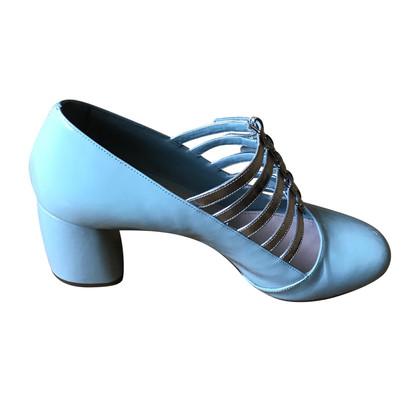 """Miu Miu """"Mary Jane's"""" in blue"""