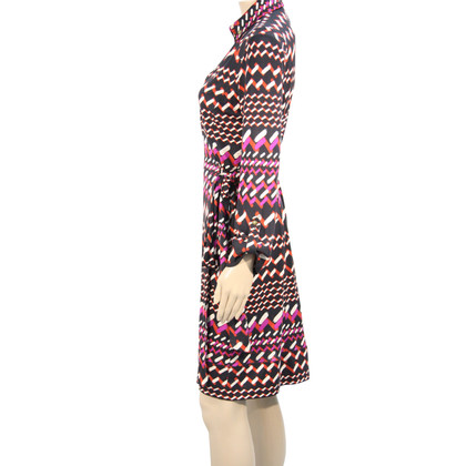 Diane von Furstenberg Wrap dress made of silk with pattern
