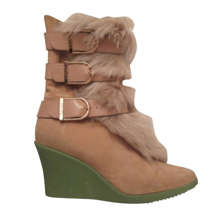 Emilio Pucci Ankle boots with fur trim