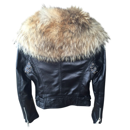 Dsquared2 leather coat