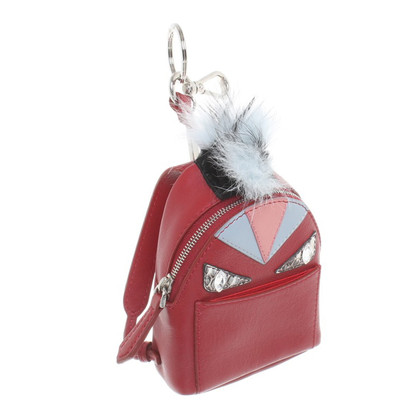 Fendi '' Monster Bag Charm '' in red