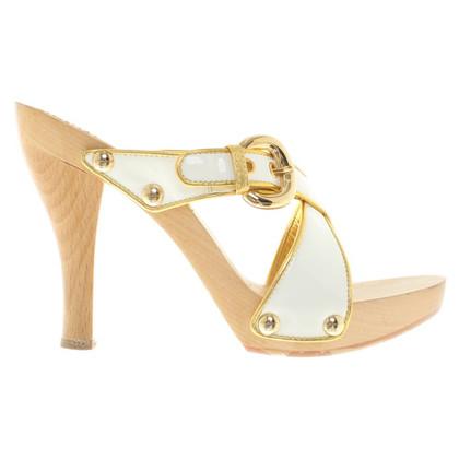 Casadei Sandales en blanc / or