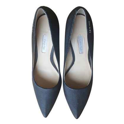 Calvin Klein pumps with embossing
