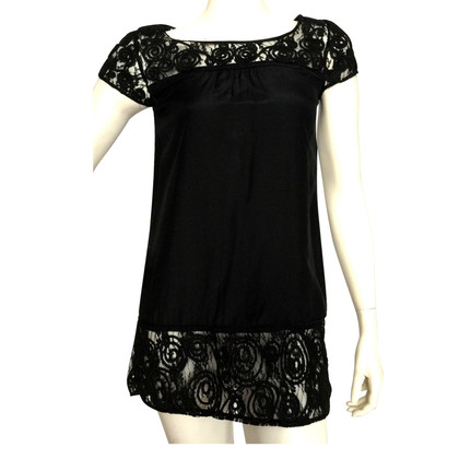 Diane von Furstenberg top with lace