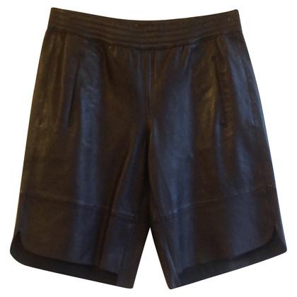 Set shorts in pelle