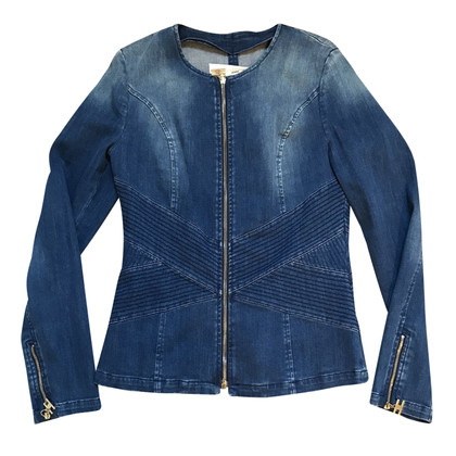 Elisabetta Franchi Denim jacket with zippers