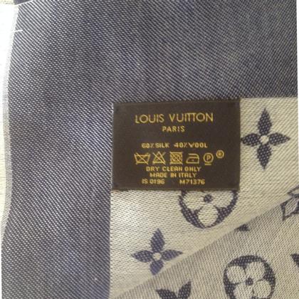 Louis Vuitton Scialle Monogram Blue Denim