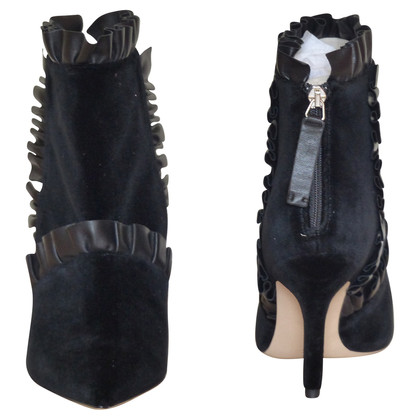 Christopher Kane Ankle boots with leather ruffles