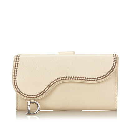 Christian Dior Leather Saddle Wallet