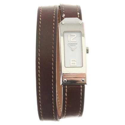 Hermès Armbanduhr aus Edelstahl
