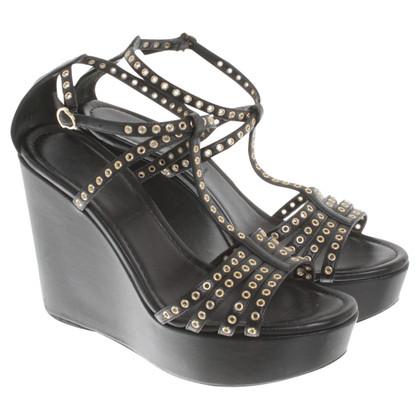 Moncler Sandaletten mit Keilabsatz