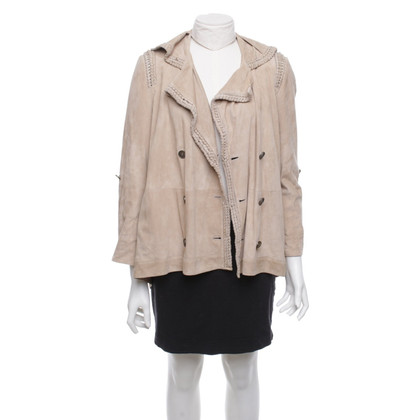 Emanuel Ungaro Sand-colored suede jacket