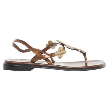 Louis Vuitton Sandalen in Bruin