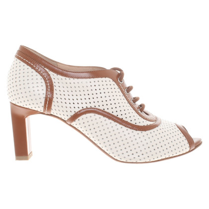 Bally Lace-up ankle boots in white / brown
