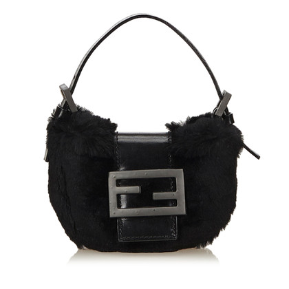 "Fendi ""Baguette Bag"" with fur trim"