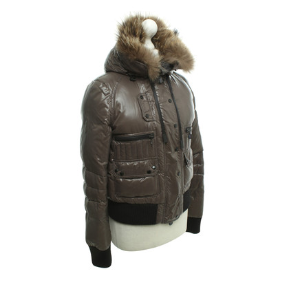 Moncler Down jacket in grey / Green