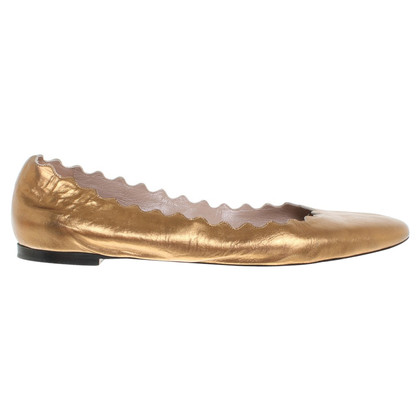 Chloé Ballerinas in gold