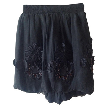 Fendi Black silk skirt