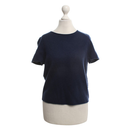 Skull Cashmere Top in donkerblauw