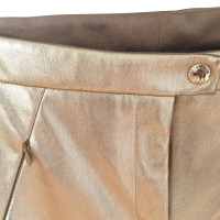 Patrizia Pepe Narrow synthetic leather trousers