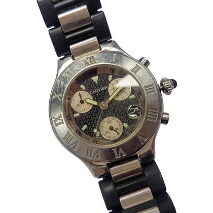 """Cartier Clock """"21 Chronoscaph"""""""