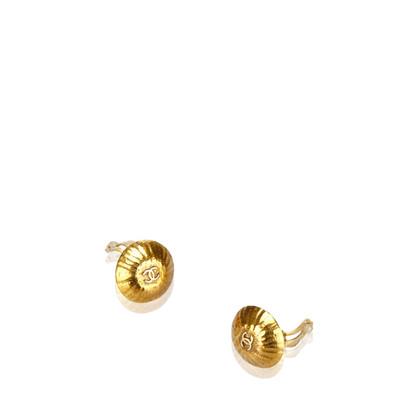 Chanel Orecchini con clip color oro
