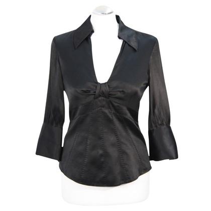 Karen Millen Zijden blouse in zwart