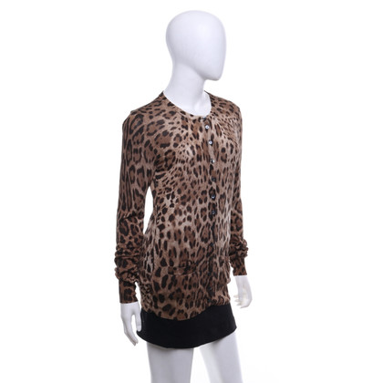 Dolce & Gabbana Cardigan with leopard print