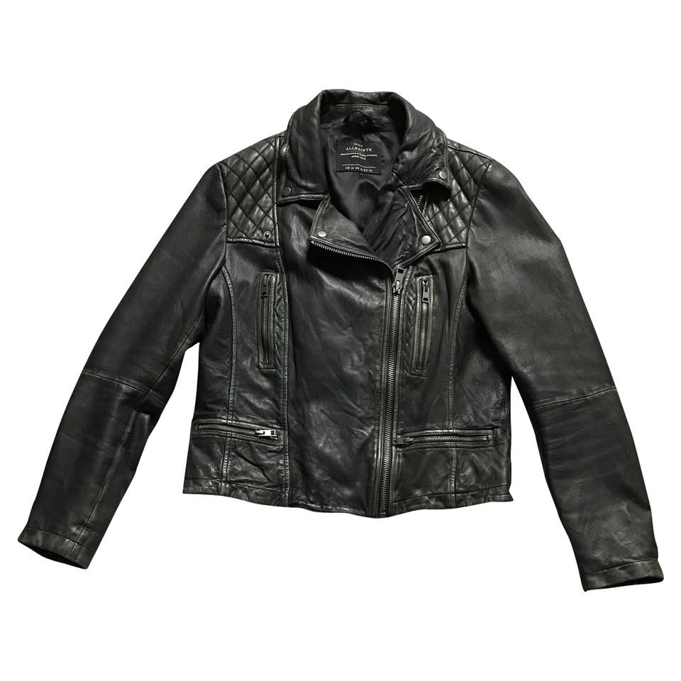 all saints veste de motard en cuir acheter all saints veste de motard en cuir second hand d. Black Bedroom Furniture Sets. Home Design Ideas