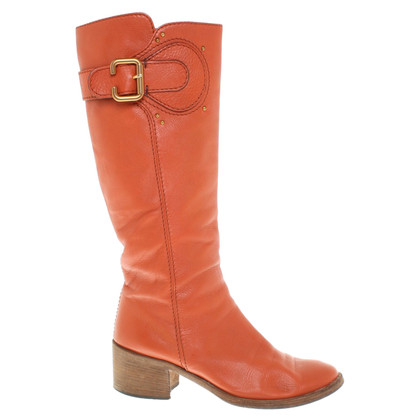 Chloé Boots in orange