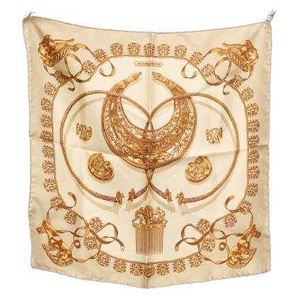 Hermès Silk scarf in beige