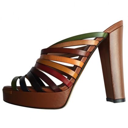 Fendi sandali di cuoio