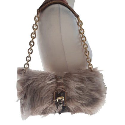Longchamp Shoulder bag with lambskin trimming