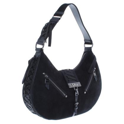Christian Dior Handtasche aus schwarzem Wildleder