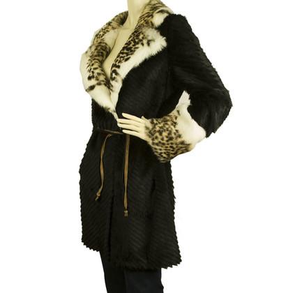 Versace Black fur jacket