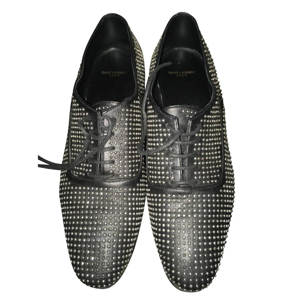saint laurent chaussures lacets acheter saint laurent. Black Bedroom Furniture Sets. Home Design Ideas