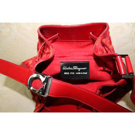 Salvatore Ferragamo Handtasche in Rot Rot Verkaufspreise Günstig Kaufen Authentisch WSP3CLCU6