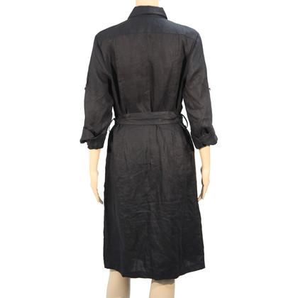 Ralph Lauren Leinenkleid in Schwarz