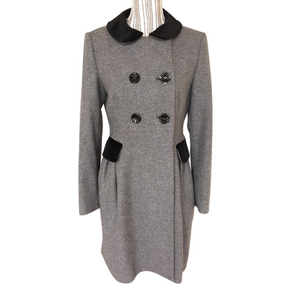 Moschino Love Gray woolen coat