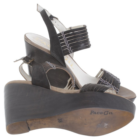Paco Sandaletten Braun aus aus Gil Leder Leder Sandaletten Gil Braun Paco Paco qwqASrF