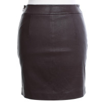 wang leather skirt in bordeaux buy second