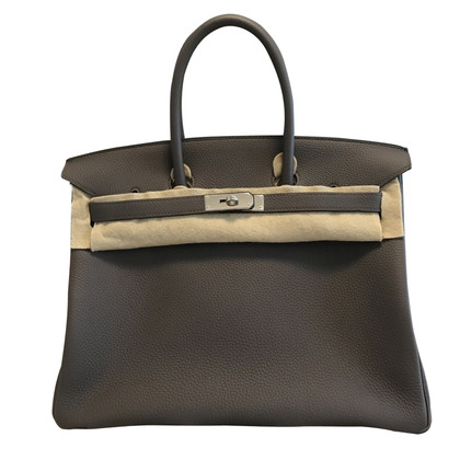 "Hermès ""Birkin Bag 35 Togo Leather Etaine"""