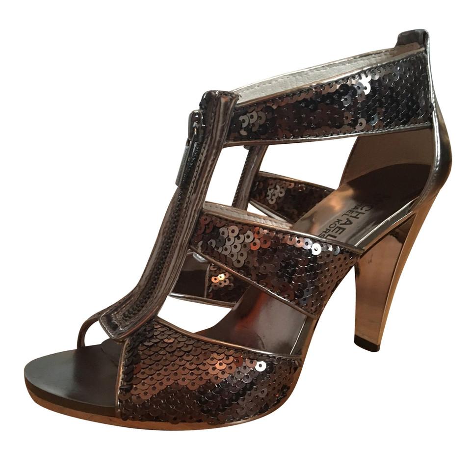 michael kors sandaletten mit pailletten second hand michael kors sandaletten mit pailletten. Black Bedroom Furniture Sets. Home Design Ideas