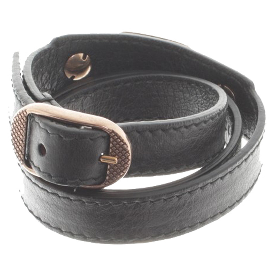 Balenciaga Leather Bracelet With Rivets