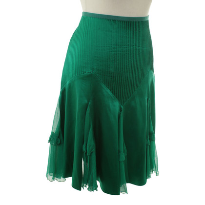Diane von Furstenberg Silk skirt in green