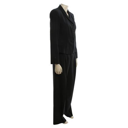 Giorgio Armani abito gessato in blu scuro