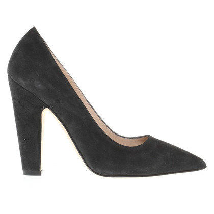 Manolo Blahnik Wildlederpumps in Schwarz