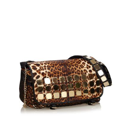 MCM Shoulder bag with leopard print