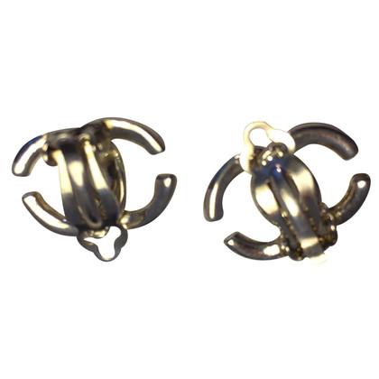 Chanel clip orecchio color argento